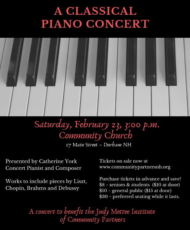 A Classical Piano Concert to Benefit the Judy Mettee